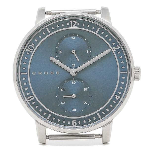 【6時間限定ポイント10倍】【返品OK】クロス 腕時計フェイス メンズ/レディース CROSS CR8037-02 ブルー シルバー シルバー
