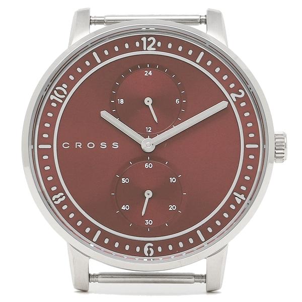 【返品OK】クロス 腕時計フェイス メンズ/レディース CROSS CR8037-03 レッド シルバー