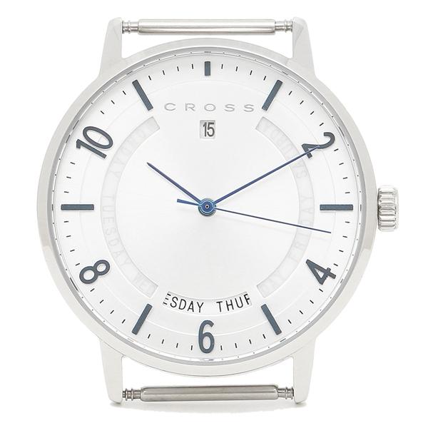 【6時間限定ポイント10倍】【返品OK】クロス 腕時計フェイス メンズ/レディース CROSS CR8038-02 シルバー ブルー シルバー