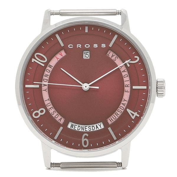 【返品OK】クロス 腕時計フェイス メンズ/レディース CROSS CR8038-04 レッド シルバー