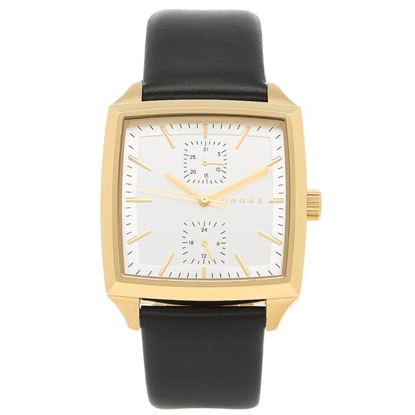 クロス 腕時計 メンズ CROSS CR8045-03 シルバー ブラック イエローゴールド