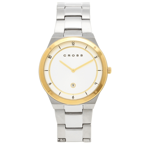 クロス 腕時計 メンズ CROSS CR8046-44 シルバー イエローゴールド