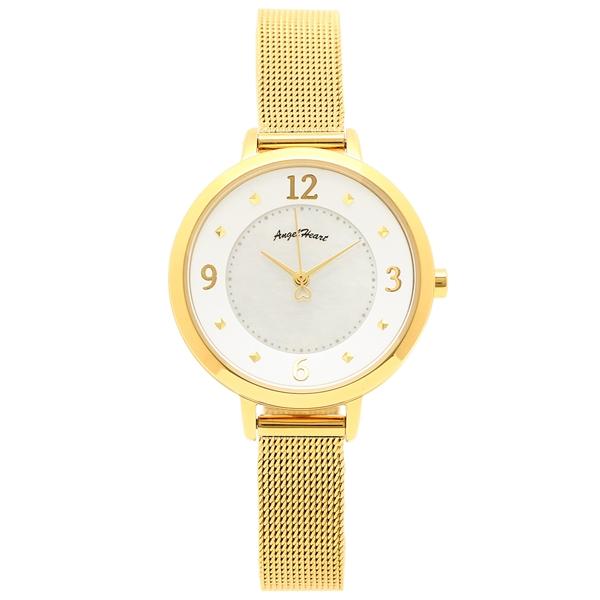 【返品OK】エンジェルハート 腕時計 レディース ANGEL HEART ND30YG イエローゴールド ホワイト