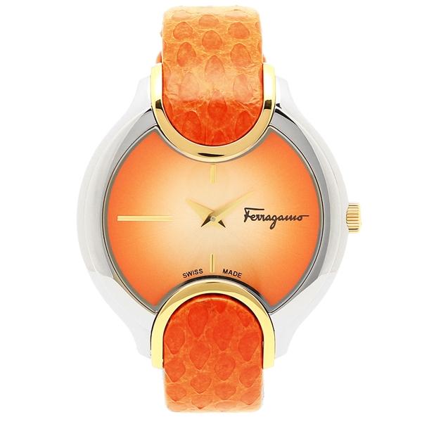 【返品OK】フェラガモ 腕時計 レディース Salvatore Ferragamo FIZ030015 シルバー/オレンジ