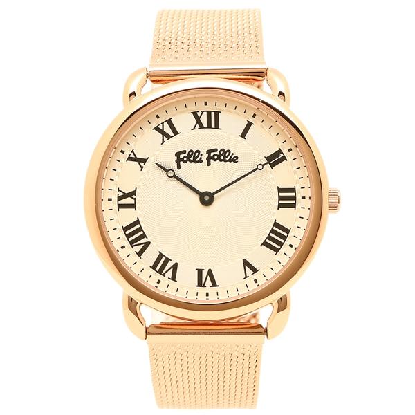 【4時間限定ポイント5倍】フォリフォリ 腕時計 レディース FOLLI FOLLIE WF16R013BPS ホワイト ピンクゴールド