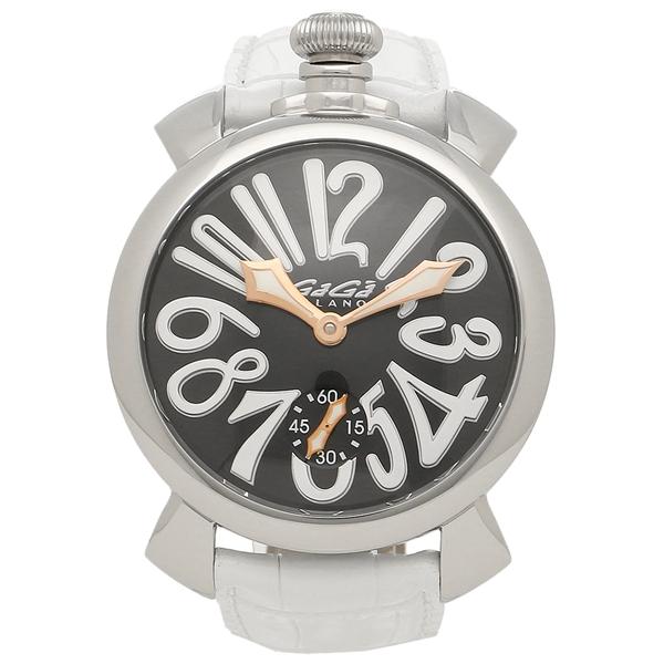 【2時間限定ポイント10倍】ガガミラノ 腕時計 メンズ GAGA MILANO 5010.06S WHT シルバー ブラック