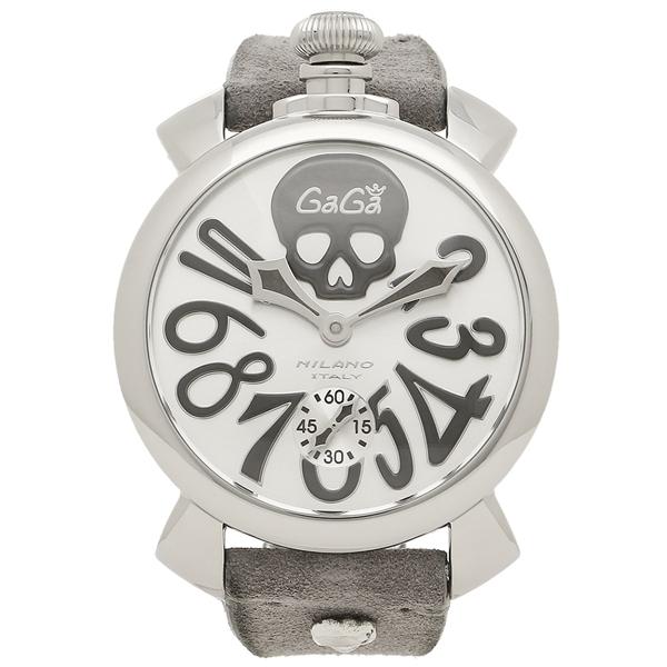 【2時間限定ポイント10倍】ガガミラノ 腕時計 メンズ GAGA MILANO 5010ART01S GRY GYS シルバー グレー