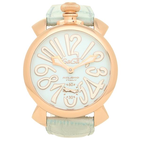 ガガミラノ 腕時計 メンズ GAGA MILANO 5011.03S LBU ライトブルー ローズゴールド