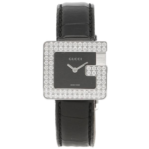 ブラック 腕時計 シルバー GUCCI グッチ レディース YA036596