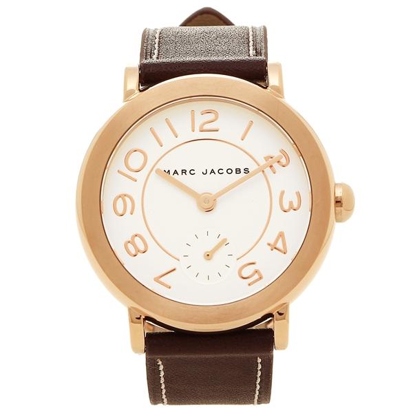 マークジェイコブス 腕時計 レディース MARC JACOBS MJ8676 ブラウン ホワイト ローズゴールド