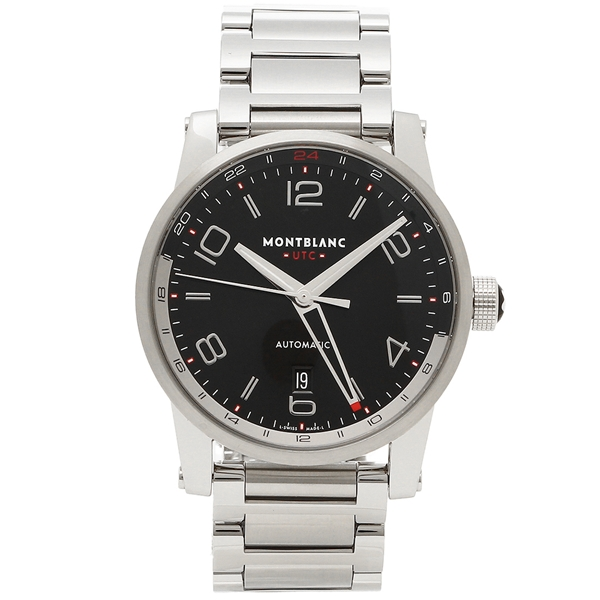 【2時間限定ポイント10倍】モンブラン 腕時計 メンズ MONTBLANC 109135 シルバー ブラック