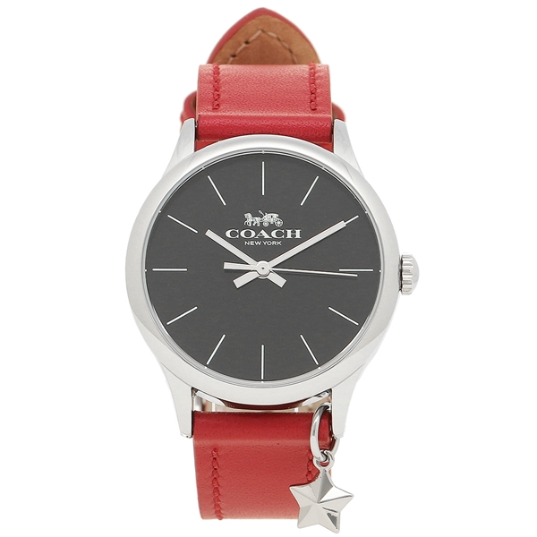 【4時間限定ポイント5倍】コーチ 腕時計 レディース アウトレット COACH W1549 RD/BK レッド ブラック シルバー