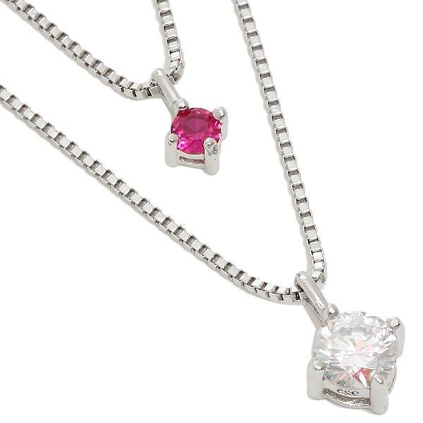 ルビンローザ ネックレス アクセサリー レディース Rubin Rosa RBN023RD シルバー クリア ピンク