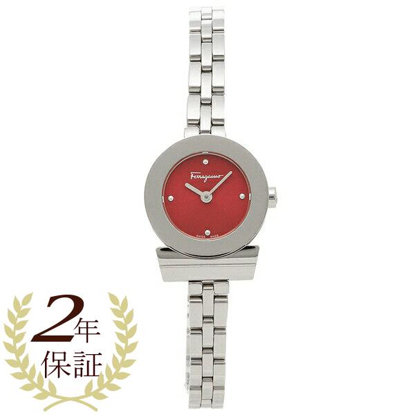 【期間限定ポイント10倍】【返品OK】フェラガモ 腕時計レディース Salvatore Ferragamo FBF060017 シルバー レッド