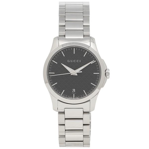 【6時間限定ポイント10倍】【返品OK】グッチ 腕時計 レディース GUCCI YA126592 シルバー ブラック