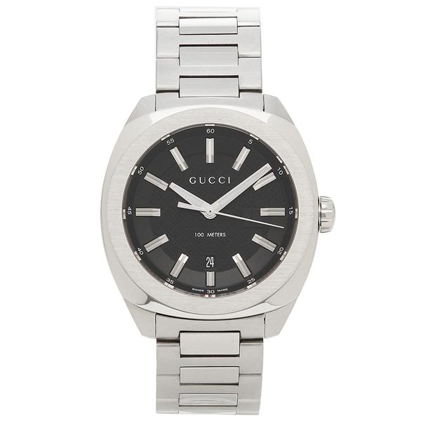 【2時間限定ポイント10倍】グッチ 腕時計 メンズ GUCCI YA142312 シルバー ブラック