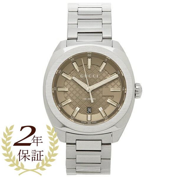 【4時間限定ポイント5倍】グッチ 腕時計 メンズ GUCCI YA142315 シルバー ブラウン