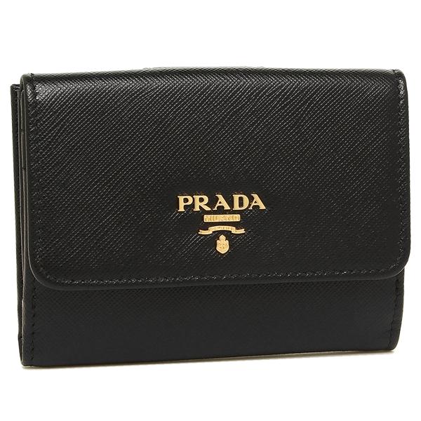 80aaf3240226 プラダ 二つ折り財布 PRADA 1MH523 QWA F0002 ブラック-レディース財布 ...