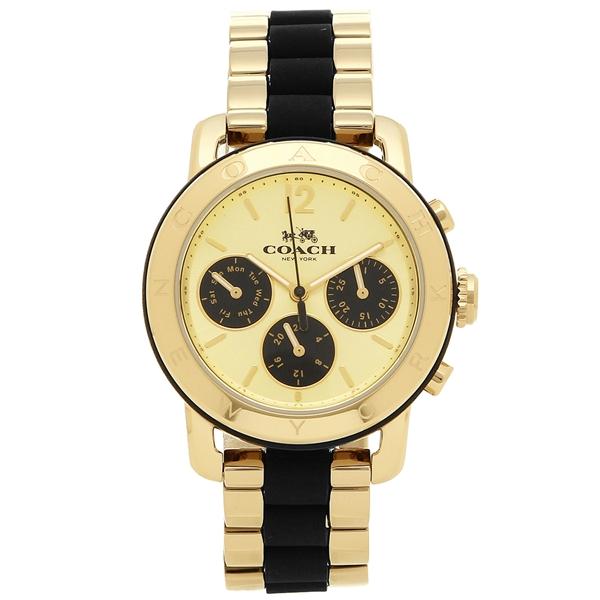 【2時間限定ポイント10倍】コーチ 腕時計 レディース COACH 14502534 イエローゴールド ブラック