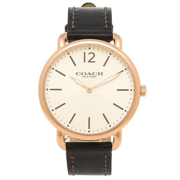 コーチ 腕時計 メンズ COACH 14602347 ブラック シルバー ローズゴールド