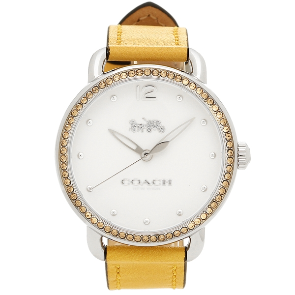 【返品OK】コーチ 腕時計 レディース COACH 14502882 ライトブラウン ホワイト シルバー