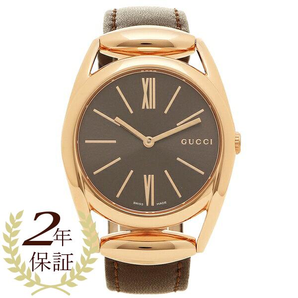 【4時間限定ポイント10倍】グッチ 腕時計 レディース GUCCI YA140408 ブラウン ブラック ピンクゴールド