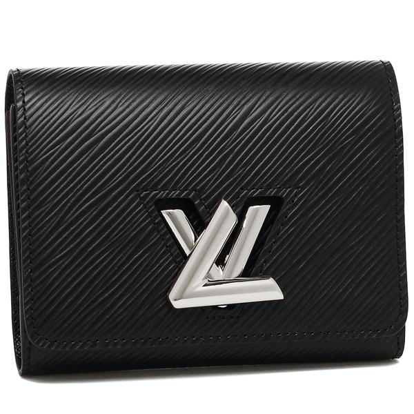 【4時間限定ポイント10倍】【返品OK】ルイヴィトン 二つ折り財布 レディース LOUIS VUITTON M64414 ブラック