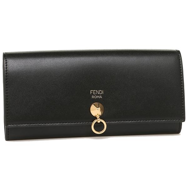 【4時間限定ポイント10倍】フェンディ 長財布 レディース FENDI 8M0251 SME F0KUR ブラック