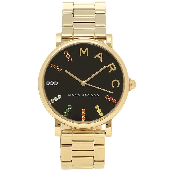 【2時間限定ポイント10倍】マークジェイコブス 腕時計 レディース MARC JACOBS MJ3567 イエローゴールド ブラック