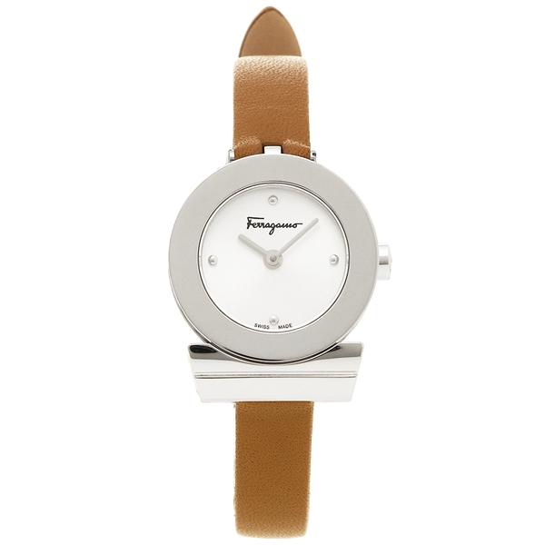 フェラガモ 腕時計 レディース Salvatore Ferragamo F43010017 ブラウン シルバー