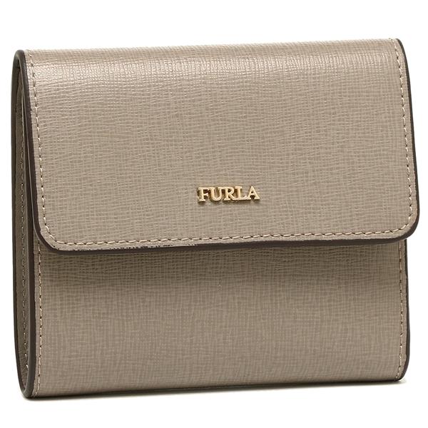 フルラ 折財布 レディース バビロン FURLA 921853 BAB PU11 B30 SBB グレー