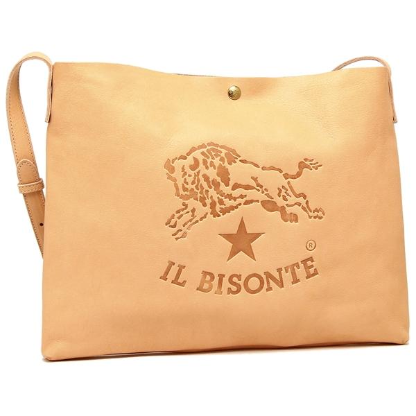 イルビゾンテ ショルダーバッグ メンズ/レディース IL BISONTE A2590 P 120 ナチュラル