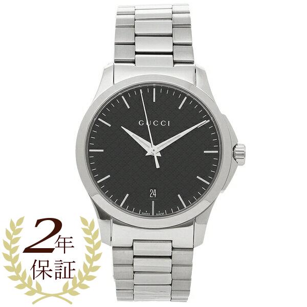 【2時間限定ポイント10倍】グッチ 腕時計 メンズ GUCCI YA1264051 シルバー ブラック