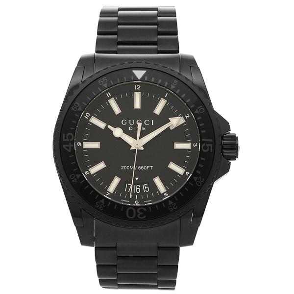 【6時間限定ポイント10倍】【返品OK】グッチ 腕時計 メンズ GUCCI YA136205 ブラック