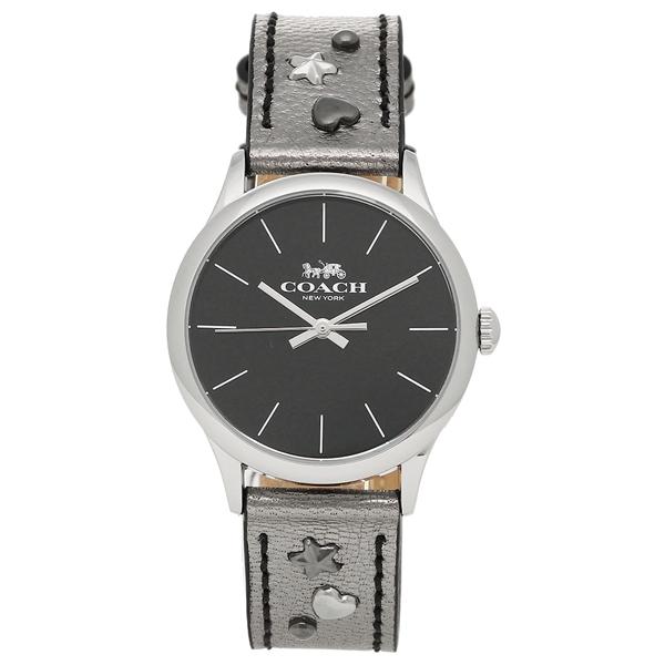 【4時間限定ポイント10倍】コーチ 腕時計 レディース アウトレット COACH W1550 MEC ブラック ガンメタルシルバー