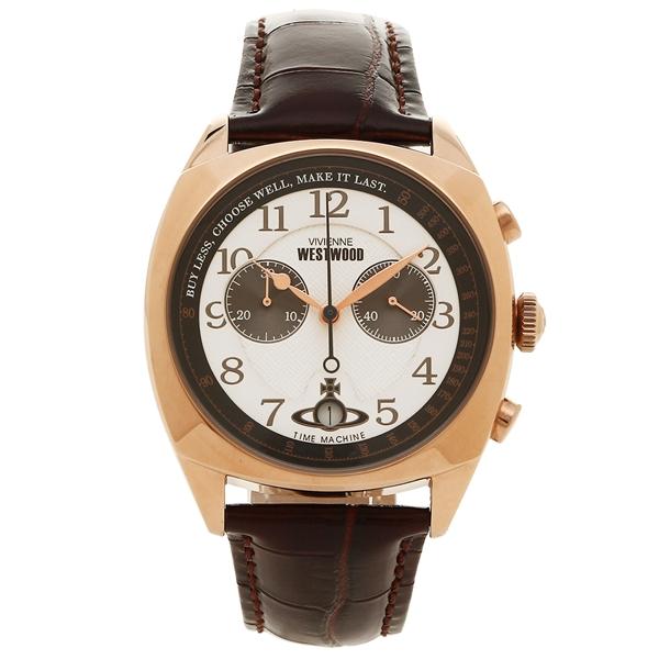 【9時間限定ポイント10倍】【返品OK】ヴィヴィアンウエストウッド 腕時計 メンズ VIVIENNE WESTWOOD VV176WHBR ホワイト ローズゴールド ブラウン