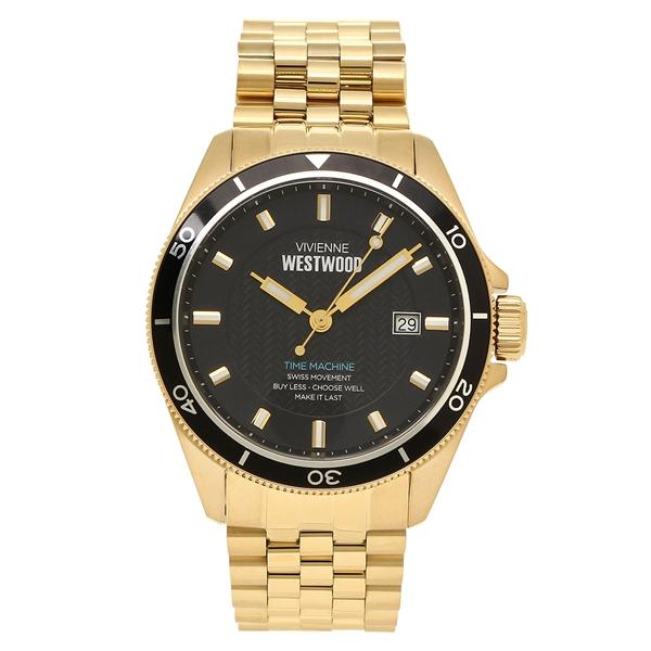 【返品OK】ヴィヴィアンウエストウッド 腕時計 メンズ VIVIENNE WESTWOOD VV181BKGD ブラック イエローゴールド