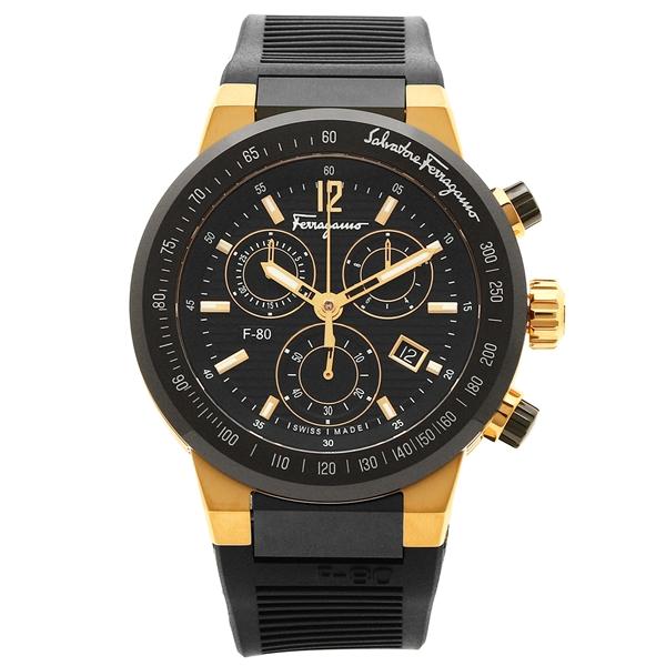 フェラガモ 腕時計 メンズ Salvatore Ferragamo F55LCQ75909S113 イエローゴールド ブラック