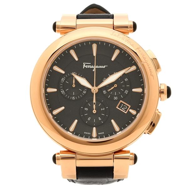 【2時間限定ポイント10倍】フェラガモ 腕時計 メンズ Salvatore Ferragamo FCP060017 ブラック ローズゴールド