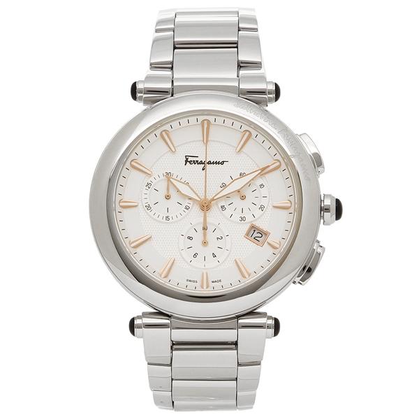 【期間限定ポイント5倍】【返品OK】フェラガモ 腕時計 メンズ Salvatore Ferragamo FCP080017 シルバー ホワイト