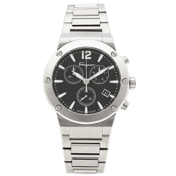 フェラガモ 腕時計 メンズ Salvatore Ferragamo FIJ050017 シルバー ブラック
