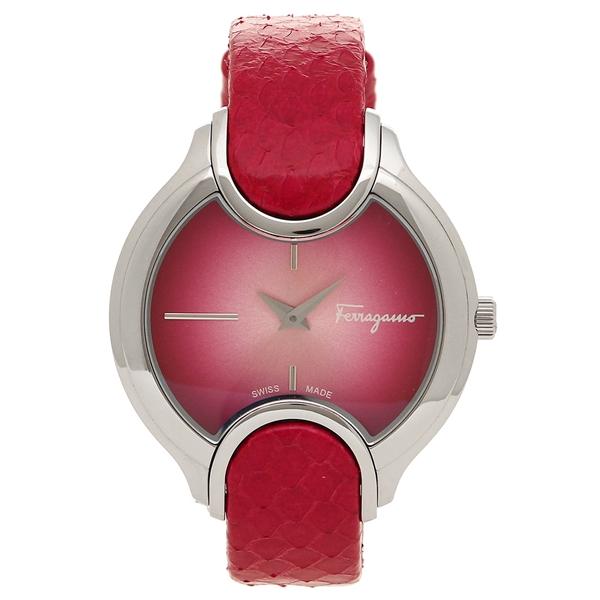 【6時間限定ポイント10倍】【返品OK】フェラガモ 腕時計 レディース Salvatore Ferragamo FIZ010015 シルバー チェリーレッド