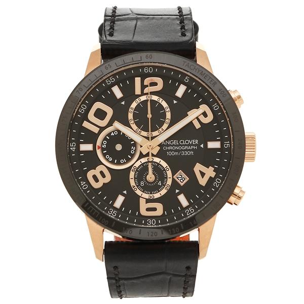 エンジェルクローバー 腕時計 メンズ ANGEL CLOVER LU44PBK-BL ブラック ローズゴールド