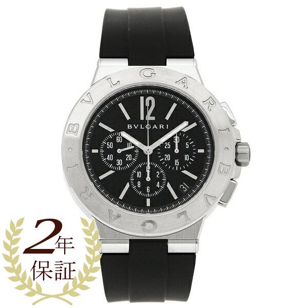 ブルガリ 腕時計 メンズ BVLGARI DG41BSVDCH ブラック シルバー