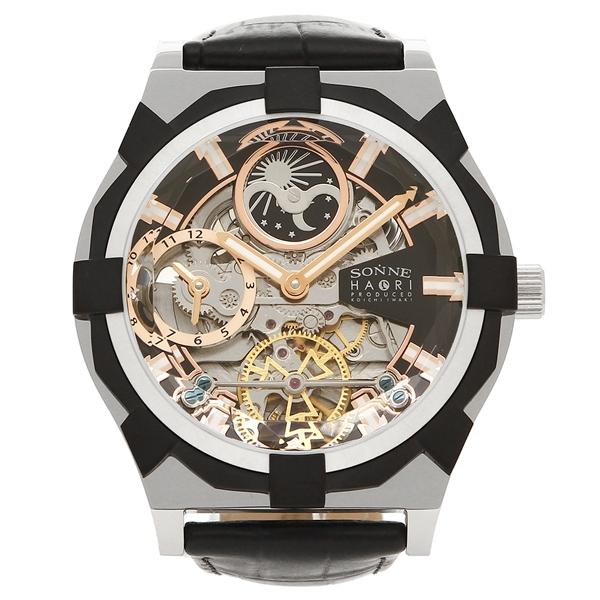ゾンネ 腕時計 メンズ SONNE H019SS-BK ブラック シルバー