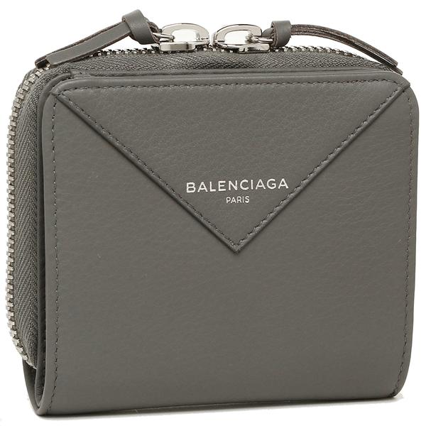 バレンシアガ 折財布 レディース BALENCIAGA 371662 DLQ0N 1215 グレー
