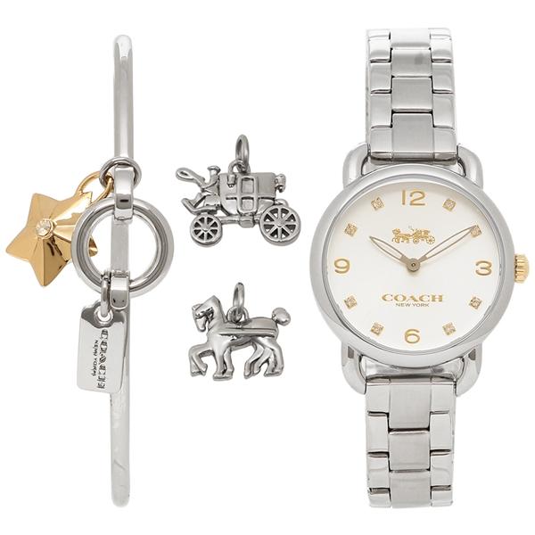 コーチ 腕時計 レディース 腕時計 コーチ ブレスレットセット COACH 14000055 シルバー シルバー, 選価ダイレクト:9aa1be93 --- sunward.msk.ru