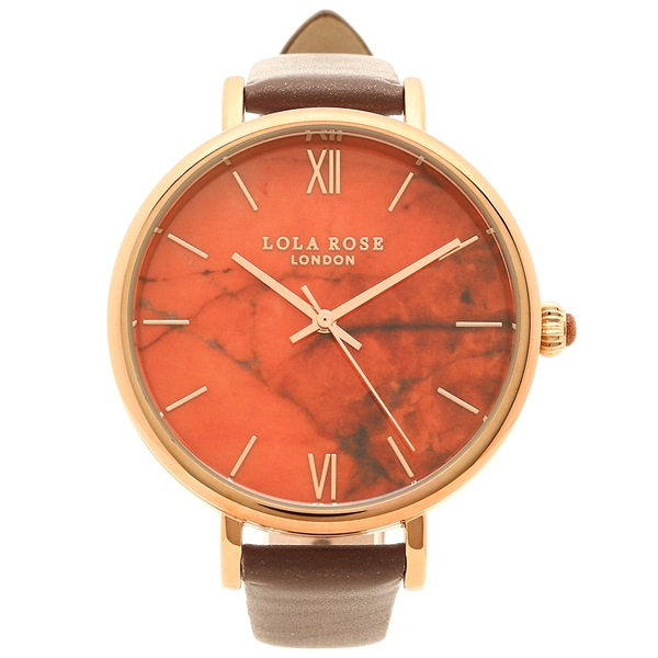 ローラローズ 腕時計 レディース Lola Rose LR2018-1 ブラウン オレンジ