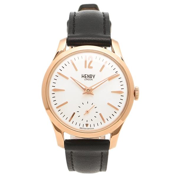 【返品OK】ヘンリーロンドン 腕時計 レディース HENRY LONDON HL30US0024 シルバー ブラック ピンクゴールド