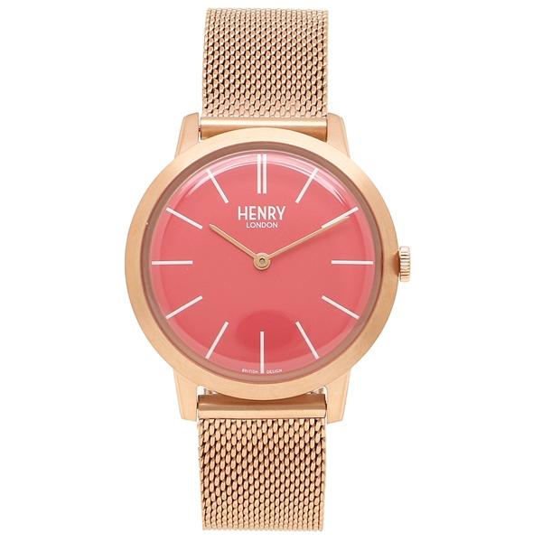 【返品OK】ヘンリーロンドン 腕時計 レディース HENRY LONDON HL34-M-0272 ピンク ピンクゴールド